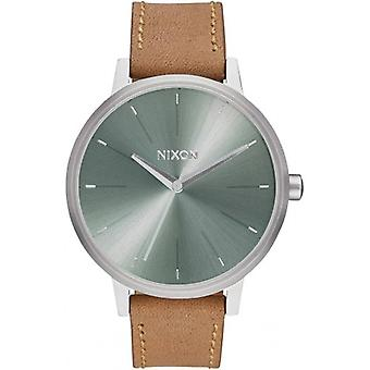 Nixon The Kensington Leather Watch - Saddle/Sage