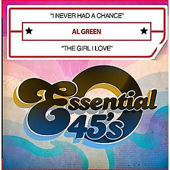 Al Green - I Never Had a Chance / the Girl I Love [CD] USA import