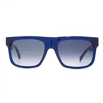 Alexander McQueen Flat Brow Sunglasses In Blue