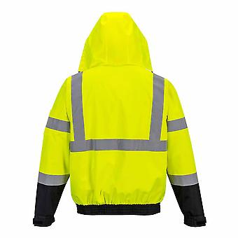 Portwest - Hi-Vis Safety Premium 3-in-1 Work Bomber Jacket