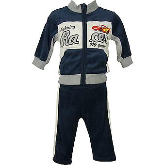 Baby Boys Disney Cars McQueen Velvet Knitted 2 piece set- Tracksuit