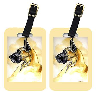 Carolines Treasures  7071BT Pair of 2 Fawn Great Dane Luggage Tags