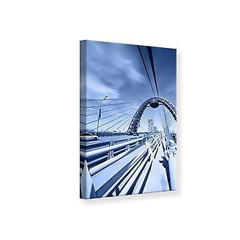 Lærred Print moderne hængebro