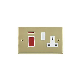 Hamilton Litestat Cheriton Victorian Polished Brass 45DP+N+SS1 WH/Red/WH