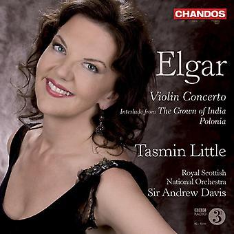 Tasmin Little - Elgar: Concierto para violín; Interludio de la corona de la India y Polonia [SACD] importación de Estados Unidos