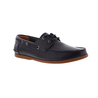 Clarks Morven Sail - Navy Leather Mens Shoes