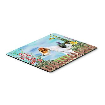 Carolines Treasures  CK1212MP Fox Terrier Spring Mouse Pad, Hot Pad or Trivet
