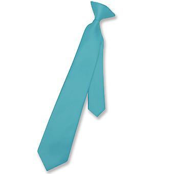 ベスビオ ナポリ少年のクリップオン ネクタイ固体若者首ネクタイ