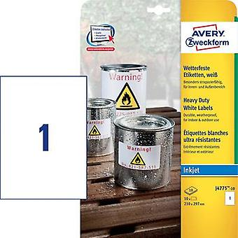 Avery-Zweckform J4775-10 Labels (A4) 210 x 297 mm Polyester film