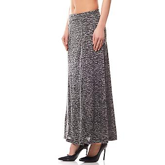 Jersey Maxi skirt-mix ladies black BOYSEN BB´s