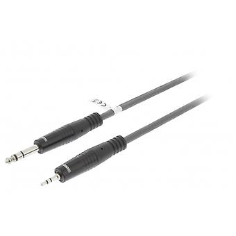 Sweex Stereo Audio Cable, 6.35 mm male to 3.5 mm male 3.0 m dark grey