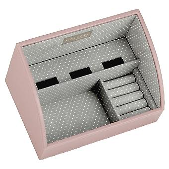 Soft Pink & Grey Spot Mobile Friendly Valet Tray