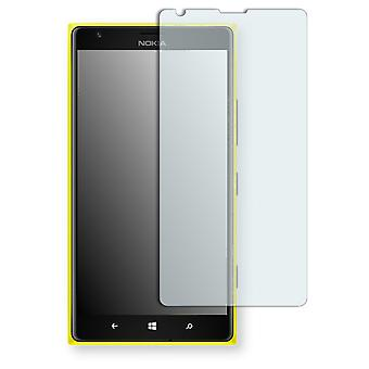 Nokia Lumia 1520 LTE display protector - Golebo Semimatt protector (deliberately smaller than the display, as this is arched)