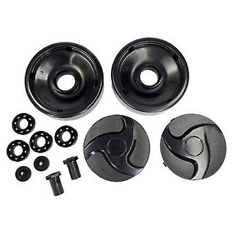 Hayward AX6009BBK Black Rear Wheels with Bearings, Nuts and Hubcaps