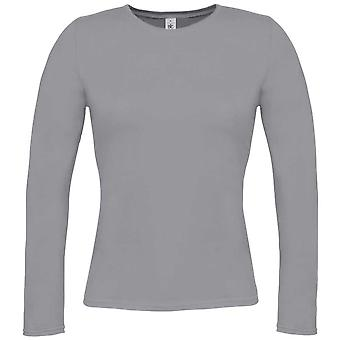 B&C Ladies Long-sleeved T-shirt with round neck collar