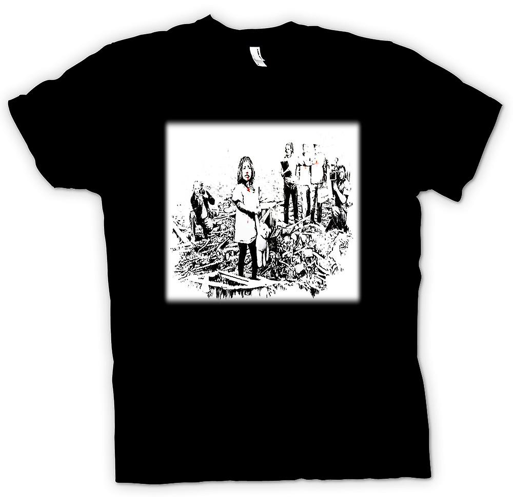 Kinder T-shirt - Banksy Disaster - Design