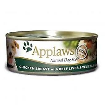 Applaws Dog Food in Cans with Chicken Beef Liver & Vegetables