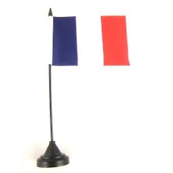France Table Flag with Stick and Base