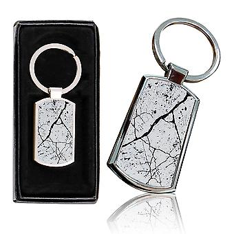i-Tronixs - Premium Marble Design Chrome Metal Keyring with Free Gift Box (3-Pack) - 0027