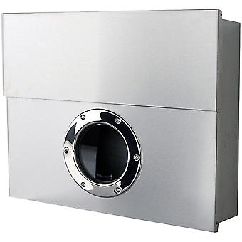 RADIUS Letterman XXL silver letter box with concealed newspaper drawer - 550 c RAL 9006