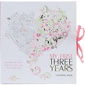 White Star Publishing Books-My First Three Years Coloring -Girl