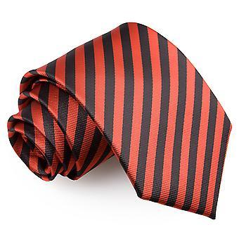 Schwarz & rot dünnen Streifen klassische Krawatte