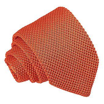 Burnt Orange gestrickte schmale Krawatte