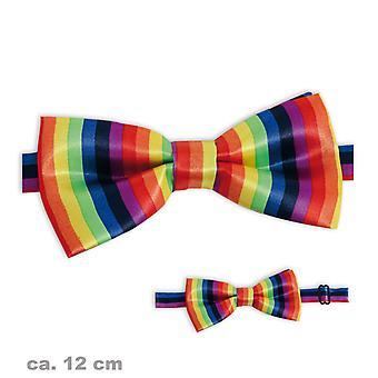 Bow fly brightly iridescent Rainbow accessory 12cm