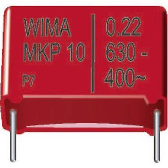 Wima MKP 10 0,33uF 10% 630V RM22,5 1 pc(s) MKP thin film capacitor Radial lead 0.33 µF 630 Vdc 20 % 22.5 mm (L x W x H) 26.5 x 11 x 21 mm