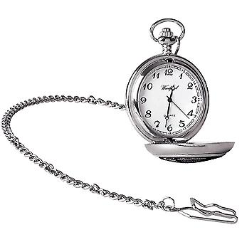 Woodford Memorial Flight Chrome Plated Full Hunter Quartz Pocket Watch - Silver