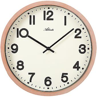 Atlanta 4436 wall clock quartz analog copper colors round