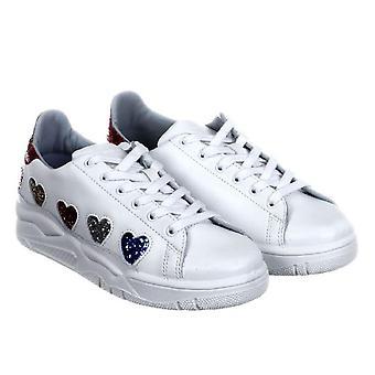 Chiara Ferragni low top white leather sneakers shoes