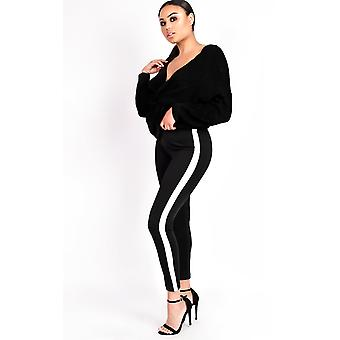 IKRUSH Womens Rachelle Striped Slim Fit Leggings