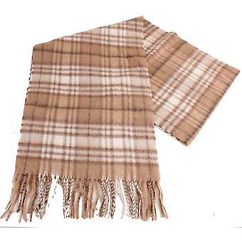 Bassin et lecture brun vérifié écharpe de poils de chameau - Beige/crème