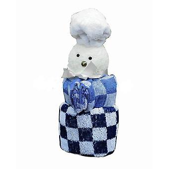 Kitchen cloth/Tea towel/2 Washcloths Cook bl