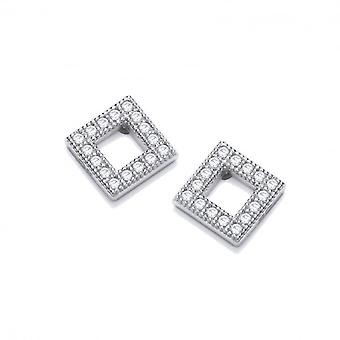 Cavendish French Cubic Zirconia Framed Square Earrings
