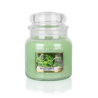 Yankee Candle Classic Medium Jar Wild Mint Candle 411g