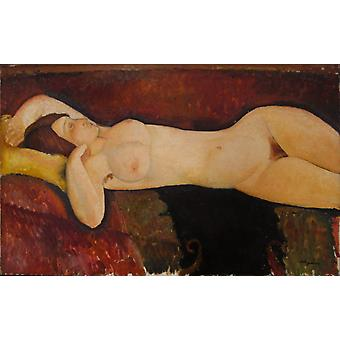 Reclining Nude, Amedeo Modigliani, 40x60cm with tray