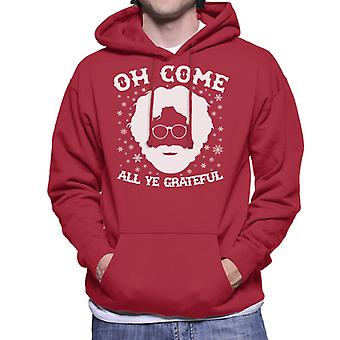 Christmas Oh Come All Ye Grateful Dead Men's Hooded Sweatshirt