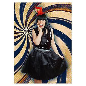 Tutu Petticoat Shop Frauen schwarze Retro-Rock und Schal