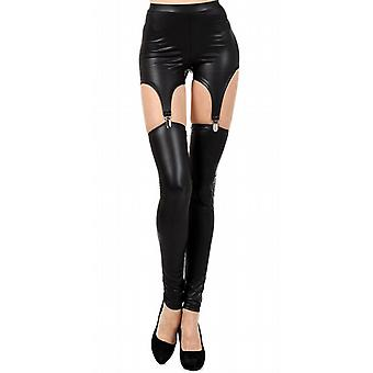 Waooh - Fashion - Leggings in Lederoptik Leggings Verbindungselemente und