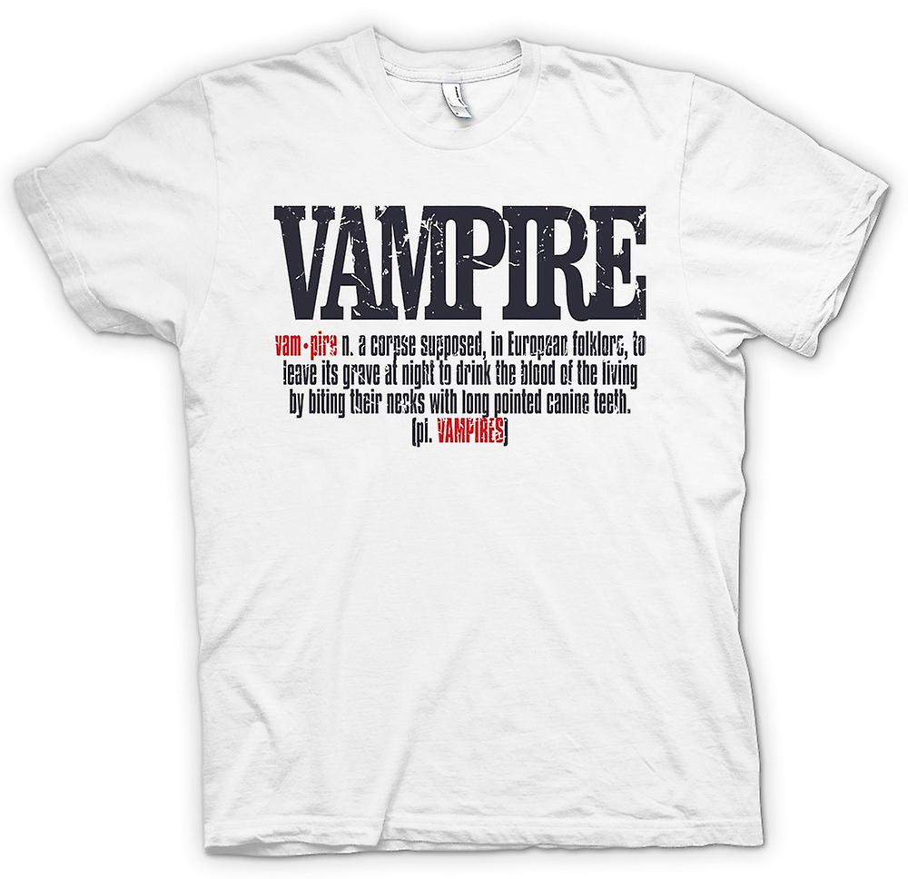 Mens t-shirt - definizione di vampiro - Cool Design