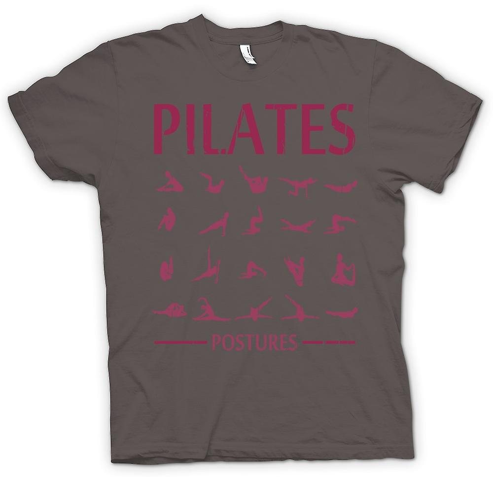 Womens T-shirt - Pilates Postures - Core Fitness
