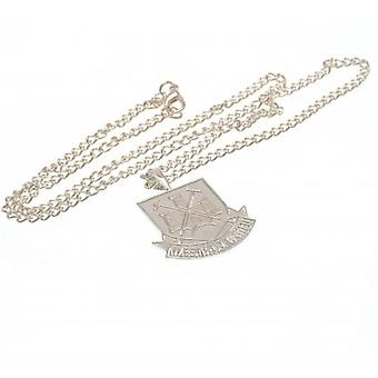 West Ham United Silver Plated Pendant & Chain XL CT