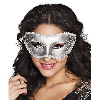 Oog masker Gabriella zilveren Fancy Dress accessoire