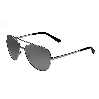 Bertha Bianca Polarized Sunglasses - Silver/Black