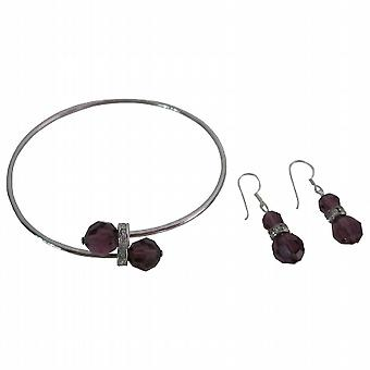 Enchanta Collection Swarovski edel Amethyst Kristallen-Schmuck
