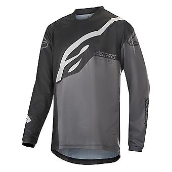 Alpinestars Black Anthracite Grey 2019 Racer Factory Kids Long Sleeved MTB Jerse