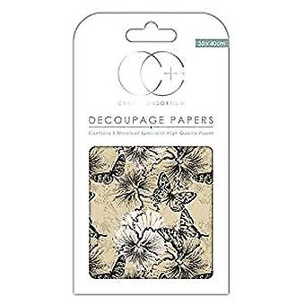 Craft Consortium Vintage Butterfly Decoupage Papers (CCDECP130)