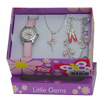 Ravel Little Gems Kids Ballerina Watch & Jewellery Gift Set for Girls R2208